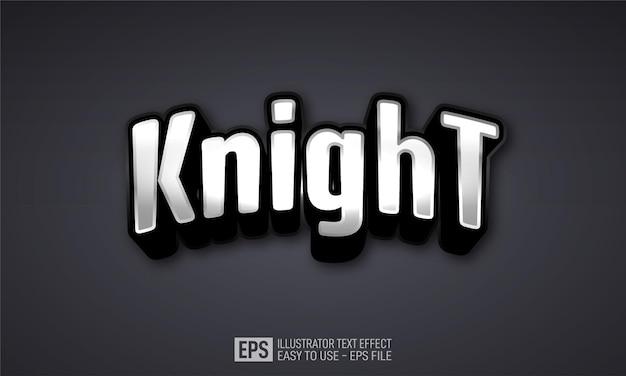 Knight esport 3d-text bearbeitbare stileffektvorlage