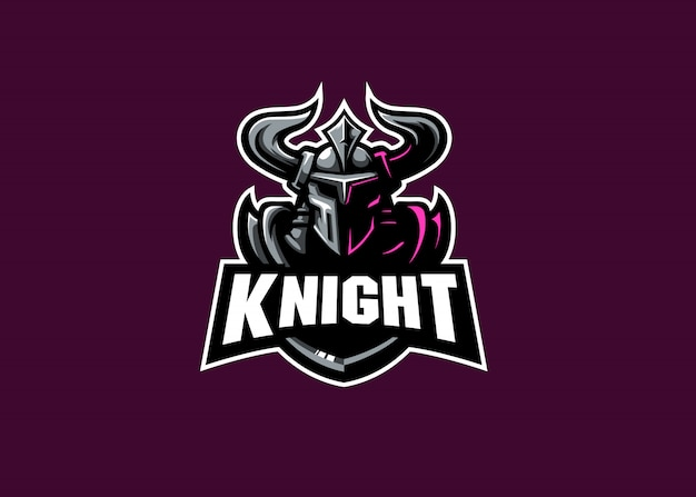 Knight strongest esport maskottchen logo