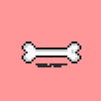 Knochen mit pixel-art-stil