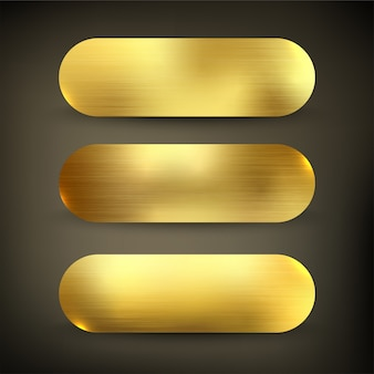 Knopf set farbe gold stil