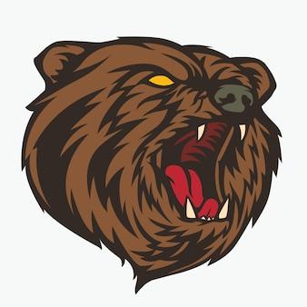 Knurren bärenkopf illustration