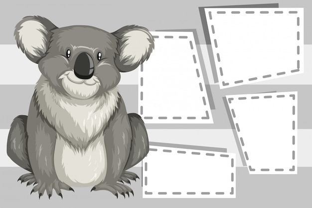Koala auf hinweis vorlage
