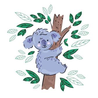 Koala australischer tierkarikaturbär
