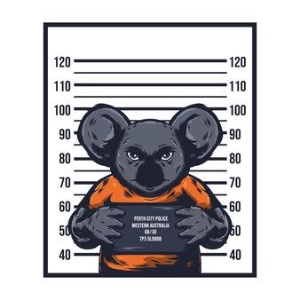 Koala die kriminelle illustration