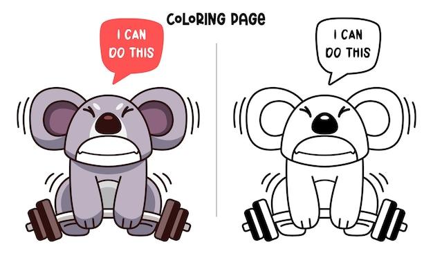 Koala sind gewichtheben