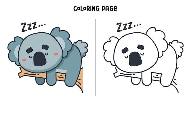 Koalas schlafen auf einem ast