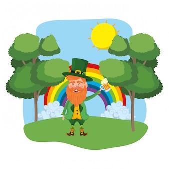 Kobold-regenbogenlandschaft