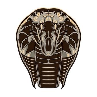 Kobra-kopf-illustration