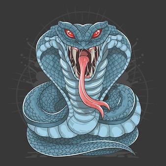 Kobra-schlange wilder strand-vektor