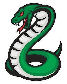 Kobra-schlangen-maskottchen