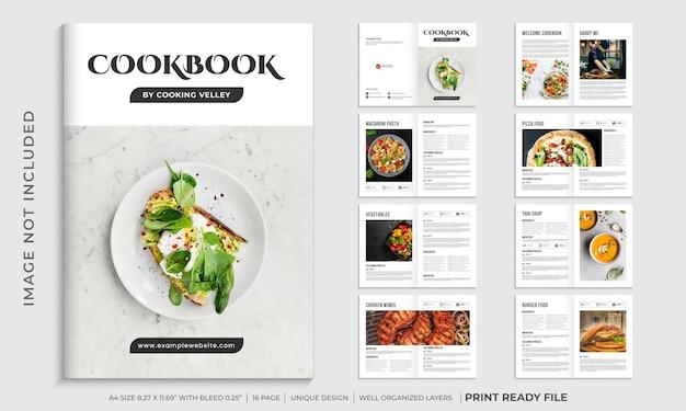Kochbuchvorlage oder rezeptbuchvorlagendesign
