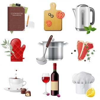 Kochen der eingestellten ikonen