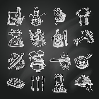 Kochen der ikonenskizze
