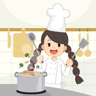 Kochen mädchen