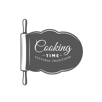 Kochetikett isoliert auf weißem hintergrund
