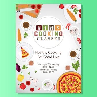 Kochkurse plakatentwurf
