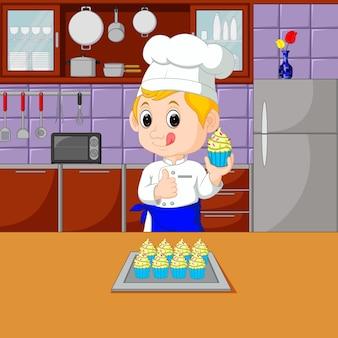 Köche mit kochset