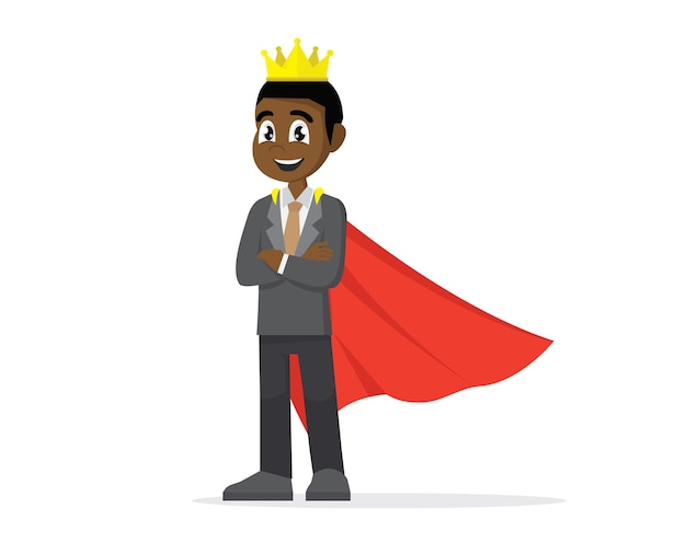 König afrikanischen geschäftsmann.