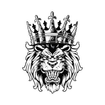 König der löwen isoliert auf weiß
