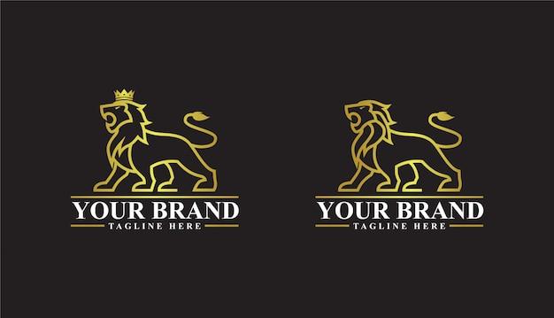 König der löwen logo goldene farbe