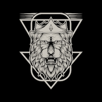 König der löwen vektor-illustration