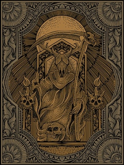 König der satanillustration