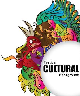 König des dschungels. kulturellen hintergrund des festivals.