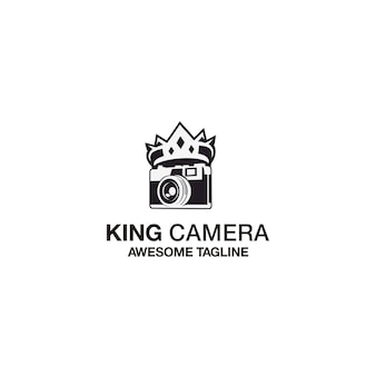König kamera logo template design