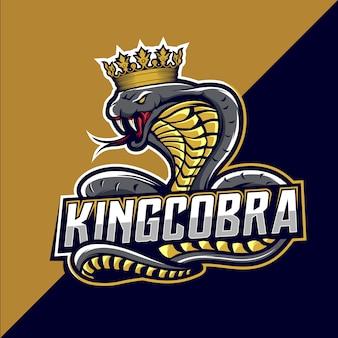 König kobra esport logo design