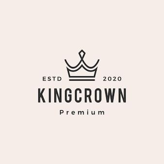 König krone hipster vintage logo