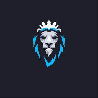 König löwe maskottchen logo