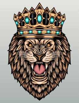 König löwe mit krone.