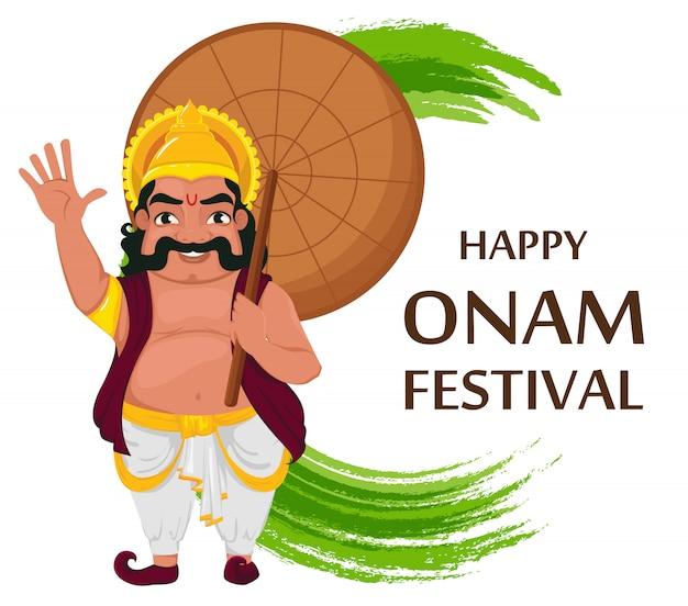 König mahabali. fröhliches onam festival in kerala