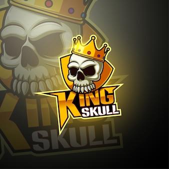 König schädel esport maskottchen logo design
