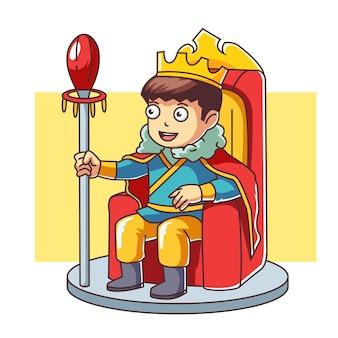 König sitzt auf dem thron