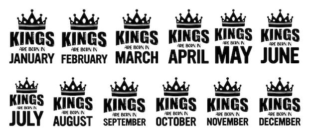 Könige sind geboren typografie zitiert design