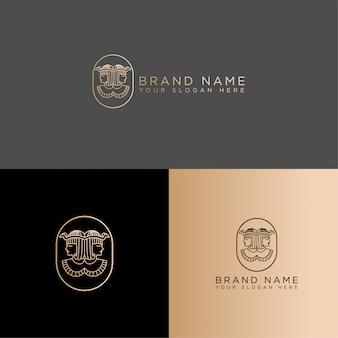 Königin cleopatra line art logo editierbare vorlage alten ägyptischen pharao