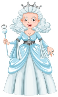 Königin mit weißen haaren