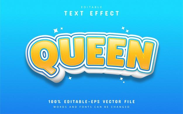 Königin-texteffekt-karikaturstil