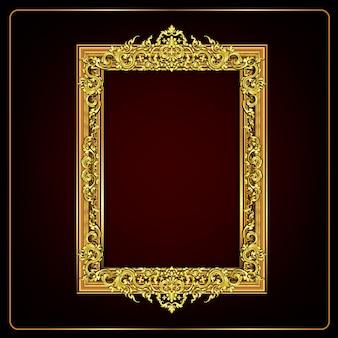 Königlich goldener blumenrahmen