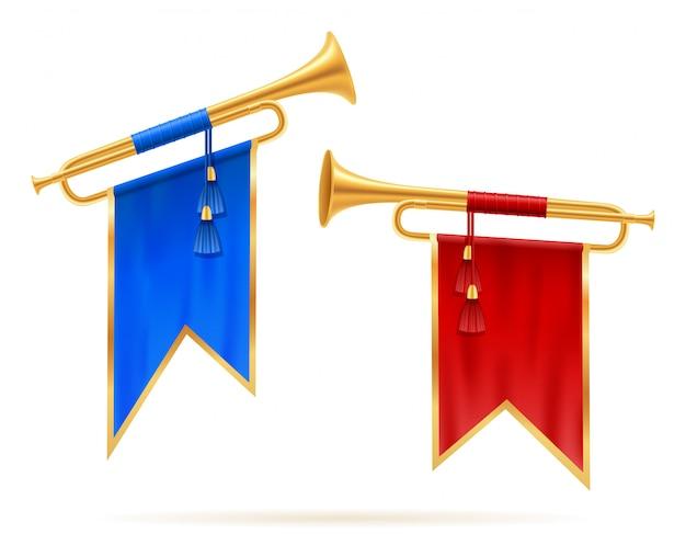 Königliche goldene horntrompete.