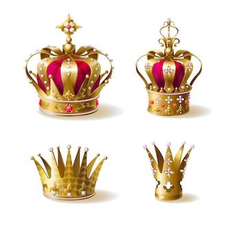 Königliche goldene kronen