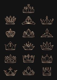 Königliche kronen gesetzt
