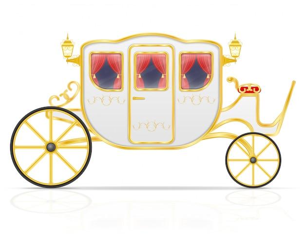 Königliche kutsche für den transport von personen