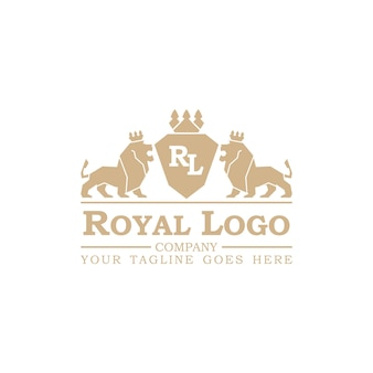 Königliche logo-vektor-illustration. isoliert auf weißem hintergrund