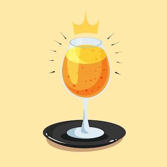 Königliche orangensaft-cartoon-vektor-symbol-illustration