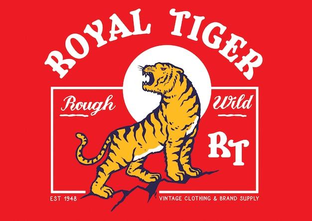 Königliche tigerillustration