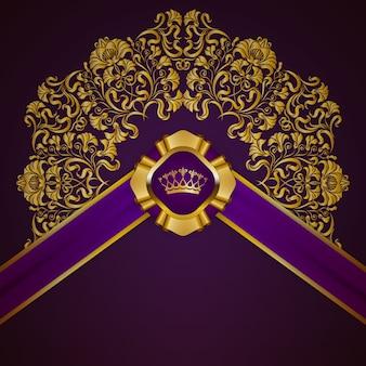 Königlicher hintergrund mit ornament