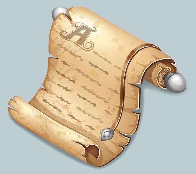 Königliches altes papier für nachricht.