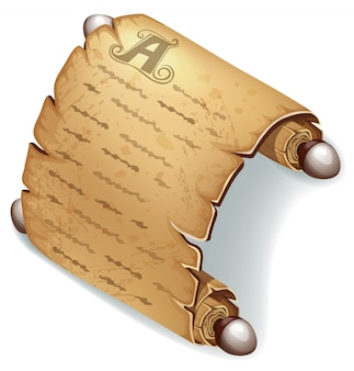 Königliches altes pergament